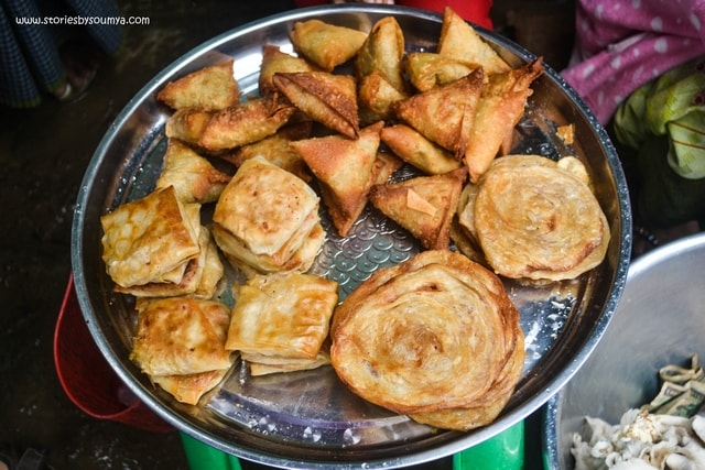 Fried Pancakes at A Local Market in Thadwe | Myanmar Traditional Food | Must-try dishes of Burmese Cuisine | Stories by Soumya
